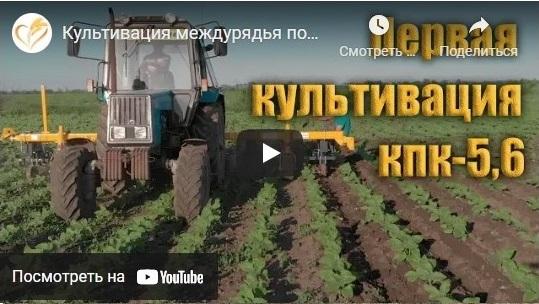 Видео Культиватор пропашной КПК-5,6
